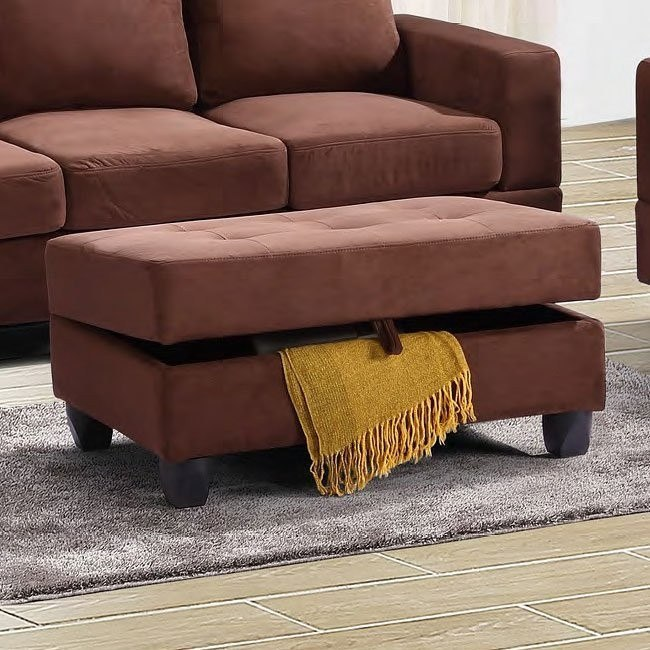 G902 Storage Ottoman (Chocolate)