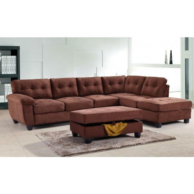G902 Reversible Sectional Set (Chocolate)