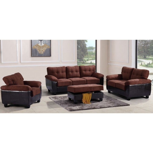 G906 Living Room Set (Chocolate)