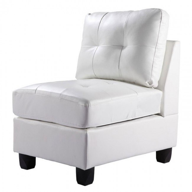 G907 Armless Chair (White)