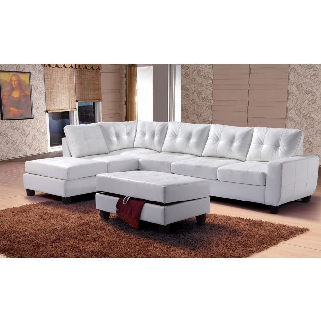 G907 Reversible Sectional Set (White)
