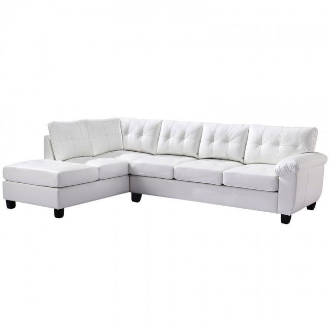 G907 Reversible Sectional (White)