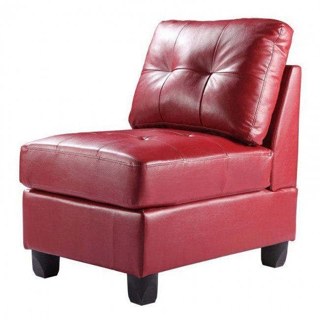 G909 Armless Chair (Red)