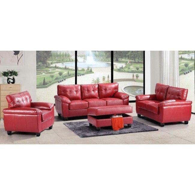 G909 Living Room Set (Red)