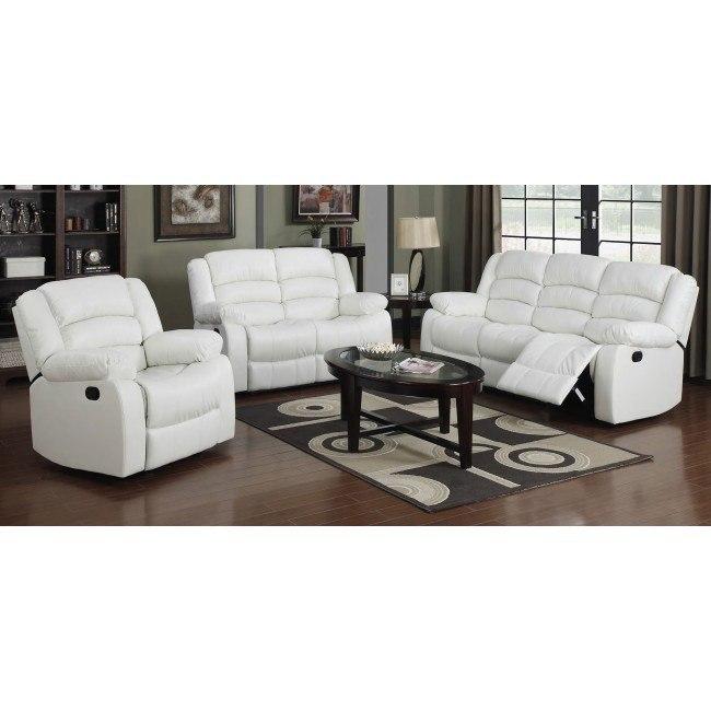 G947 Reclining Living Room Set (White)