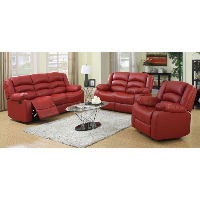 G949 Reclining Living Room Set (Red)