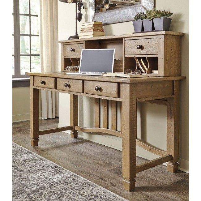 Trishley Home Office Desk w/ Hutch