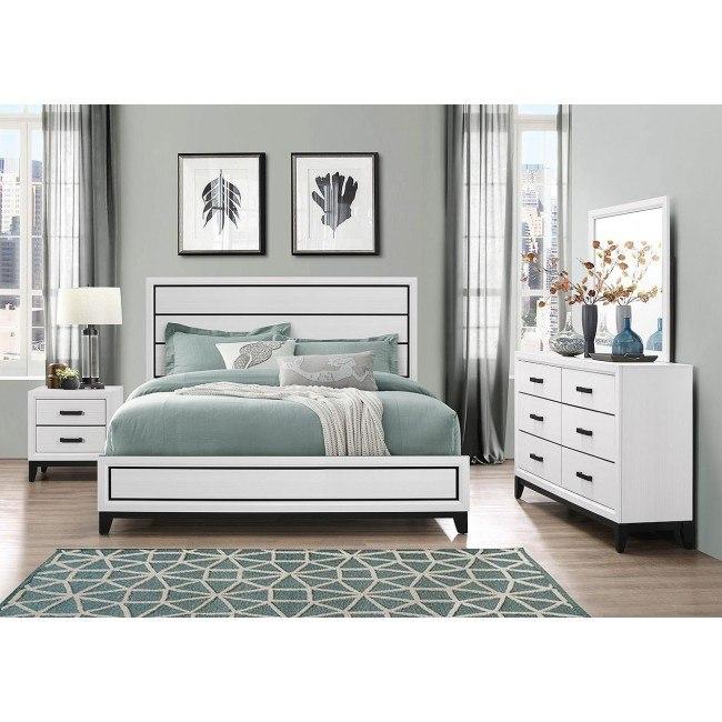 Kate Panel Bedroom Set White By Global Furniture Furniturepick