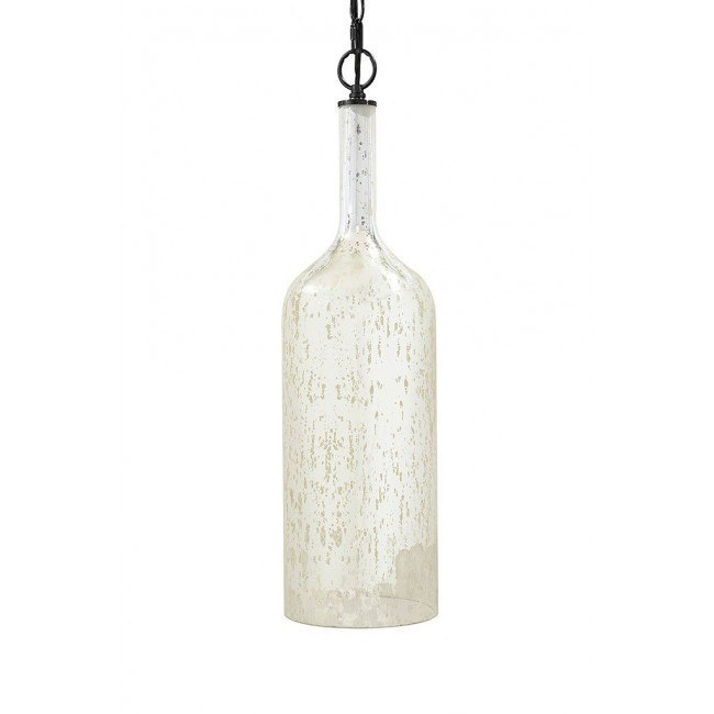 Caden Glass Pendant Light (Silver)