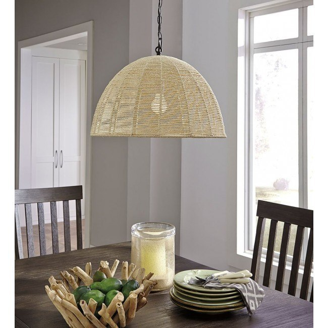 Jovan Paper Rope Pendant Light (Natural)