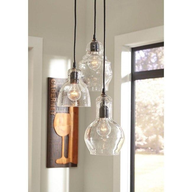 Adelphia Glass Pendant Light (Clear)