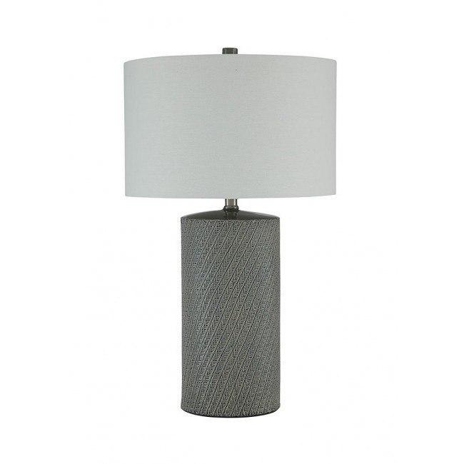 Shelleny Ceramic Table Lamp (Gray/Green)