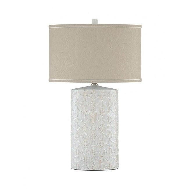 Shelvia Ceramic Table Lamp (Antique White)