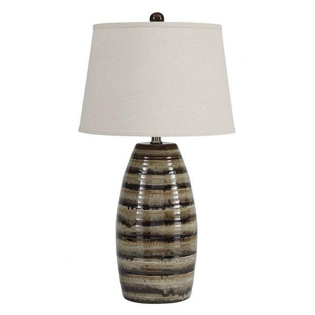 Darlon Ceramic Table Lamp (Brown)
