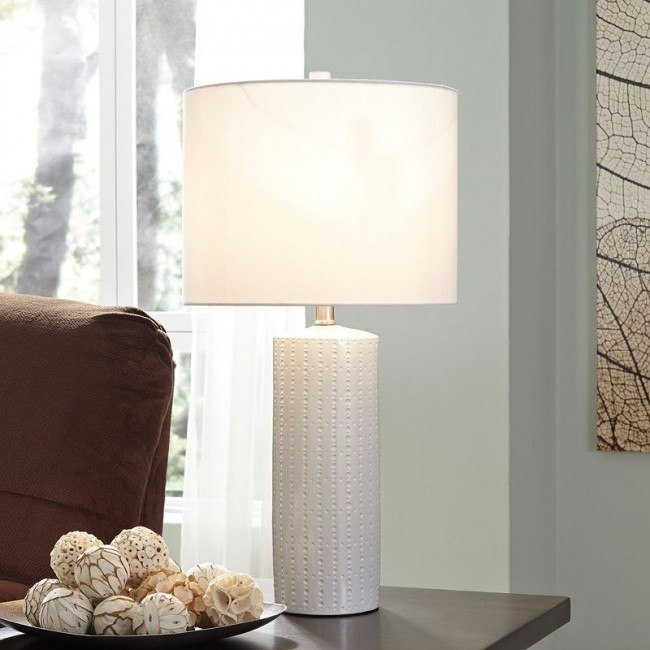 Steuben Ceramic Table Lamp (White) (Set of 2)