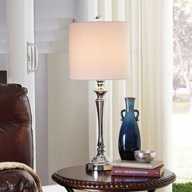 Taji Metal Table Lamp (Chrome) (Set of 2)