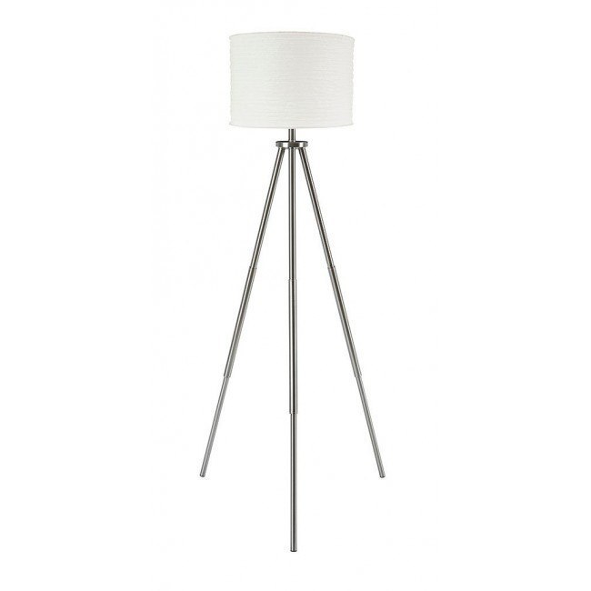 Susette Metal Floor Lamp (Brushed Silver)