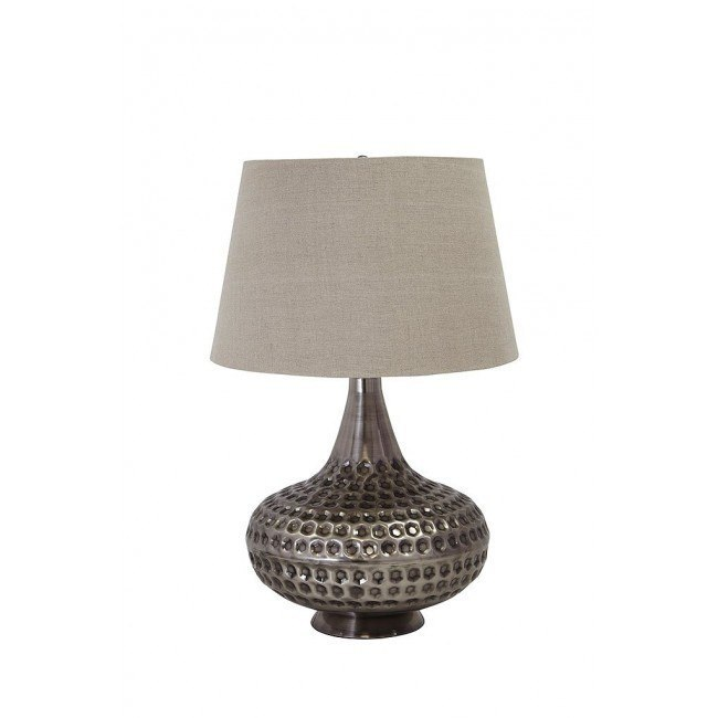 Sarely Metal Table Lamp (Pewter)