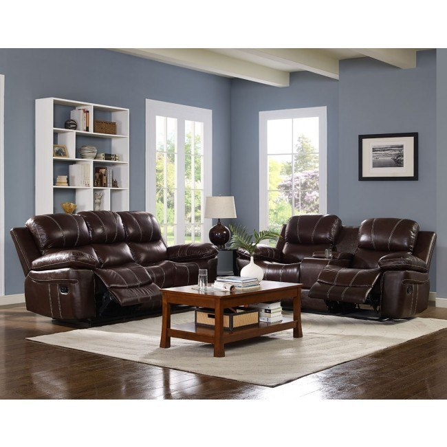 Legato Power Reclining Living Room Set (Dark Brown)
