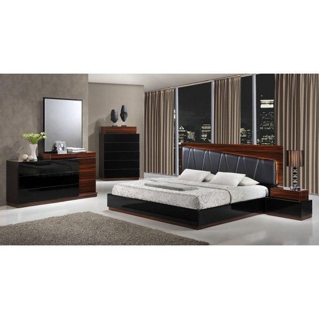 Lexi Platform Bedroom Set (Black and Wenge) by Global Furniture ...