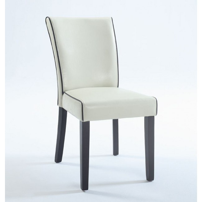 Michelle Bonded Leather Parsons Chair
