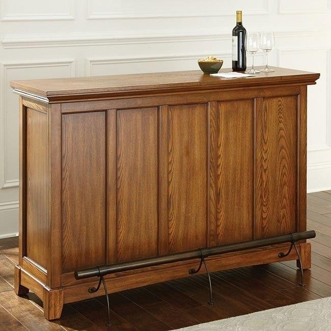 Martinez 42 Inch Home Bar Oak By Steve Silver Furniture