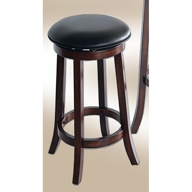 Distressed Walnut 24 Inch Backless Stools Set Of 2 By Eci