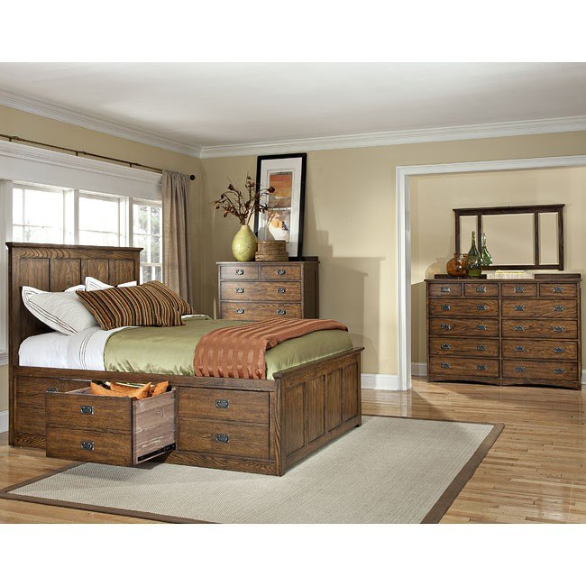 Terrific Oak Park 6 Drawer Storage Bedroom Set Download Free Architecture Designs Terstmadebymaigaardcom