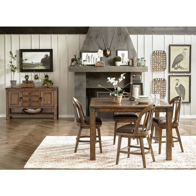 Heartland Falls Counter Height Dining Set w/ Windsor Chairs