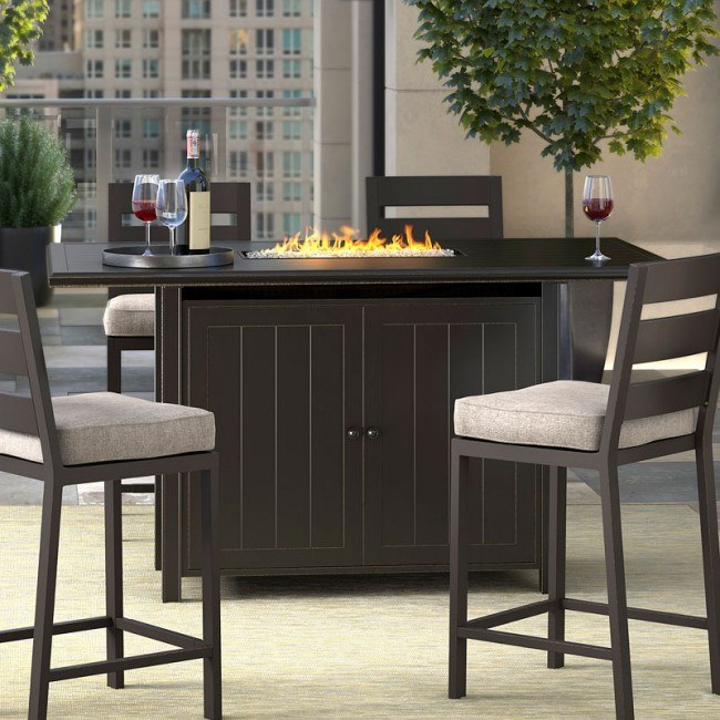 Perrymount Outdoor Fire Pit Bar Table