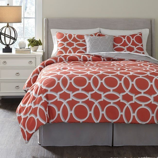 Clairette Coral Bedding Set