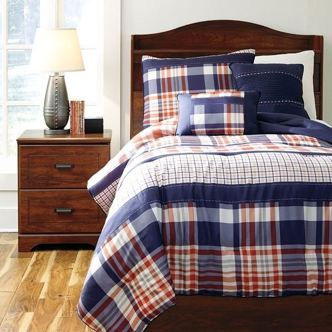 Milam Plaid Youth Bedding Set