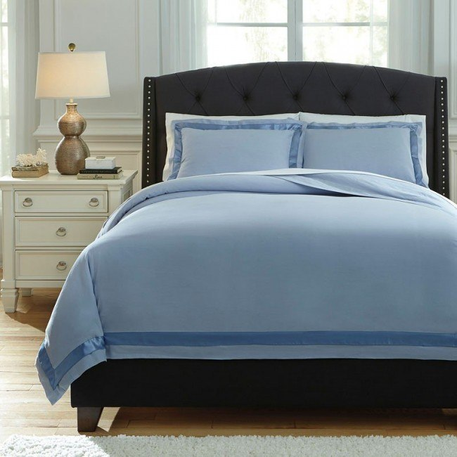 Farday Soft Blue Duvet Set