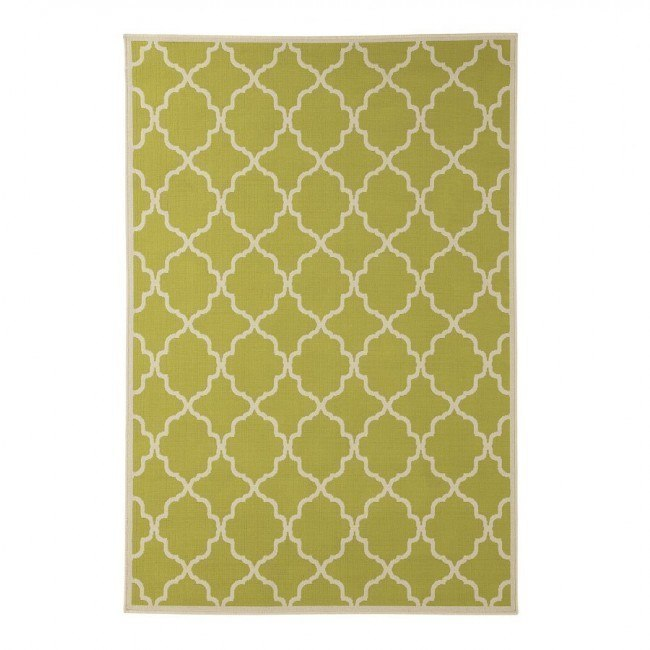 Kerry Green and Cream Large Rug