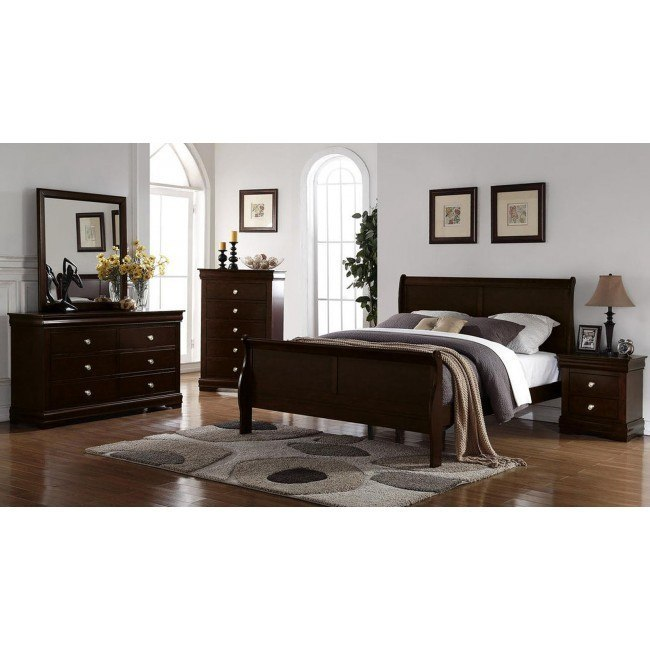 Orleans Sleigh Bedroom Set (Merlot)