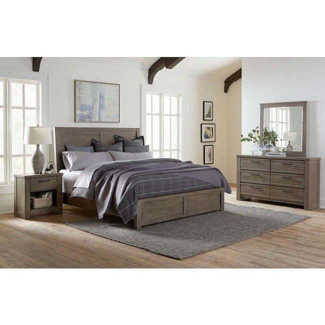 Ruff Hewn Gray Panel Bedroom Set