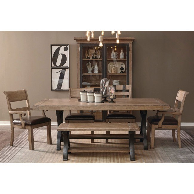 Flatbush Trestle Dining Room Set w/ Bench