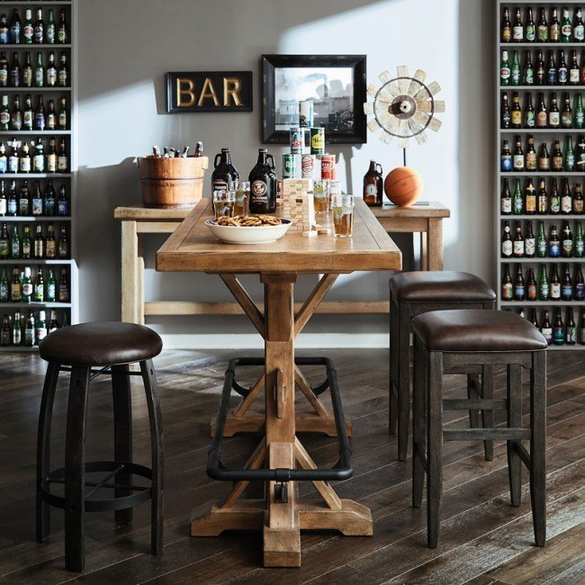 Furniture City Brewing Blonde Stand-Up Pub Set w/ Chair Choices