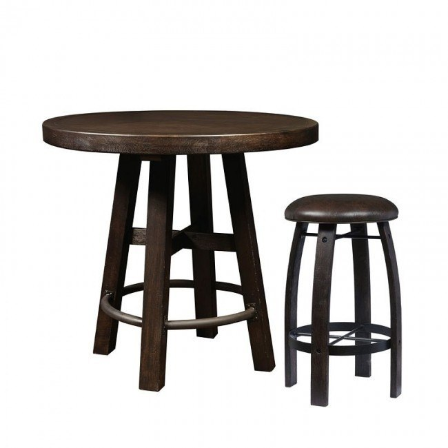 Furniture City Brewing Stout Round Bar Table Set