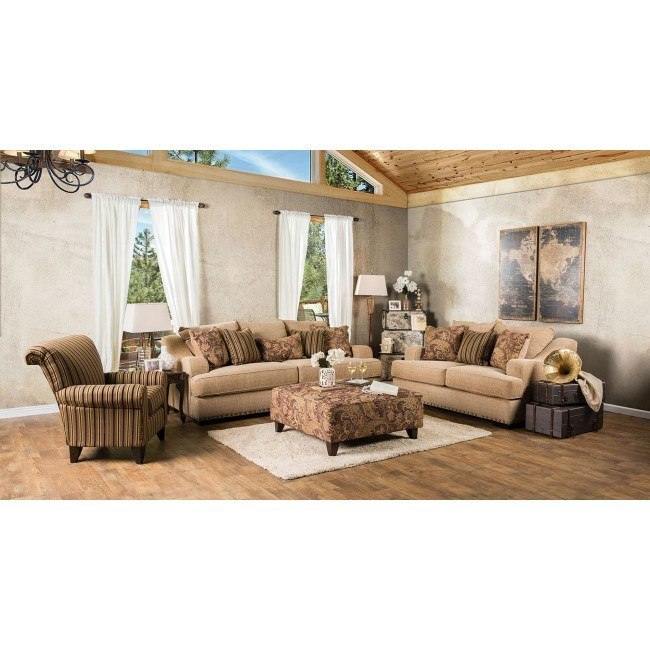 Arklow Living Room Set (Tan)