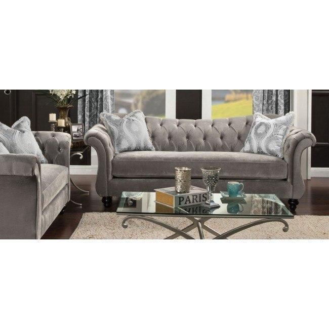 Antoinette II Living Room Set (Dolphin Gray)