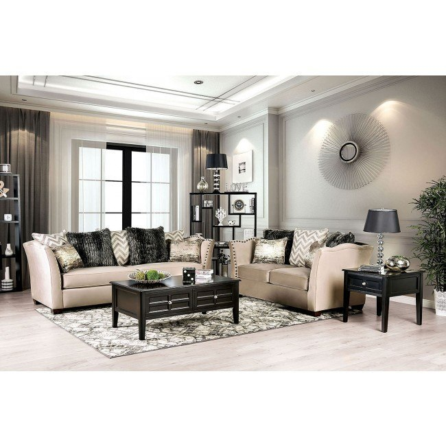 Hampden Living Room Set (Beige)