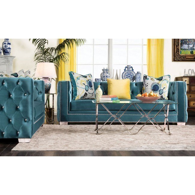 Salvatore Living Room Set (Turquoise)