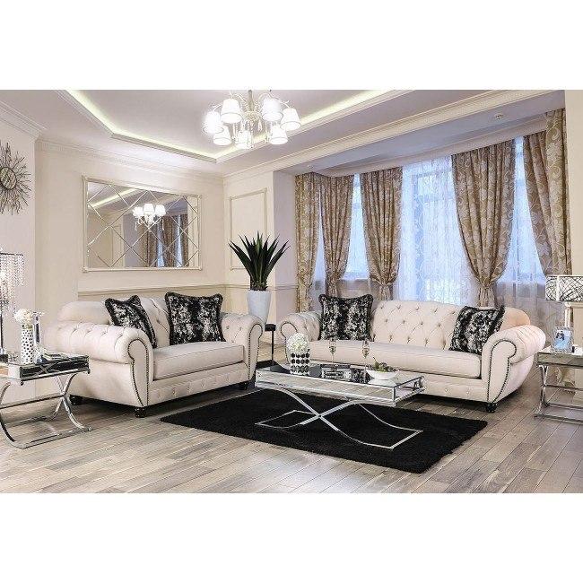 Gilda Living Room Set (Beige)