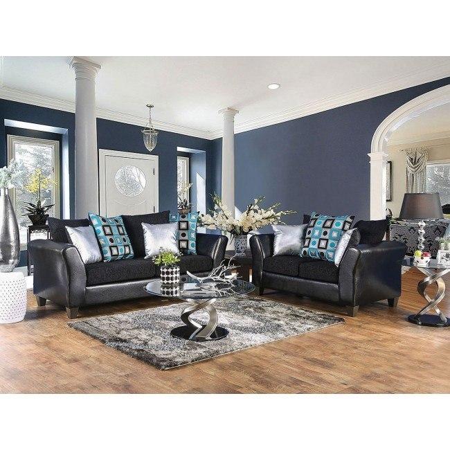 Kaelyn Living Room Set (Black)