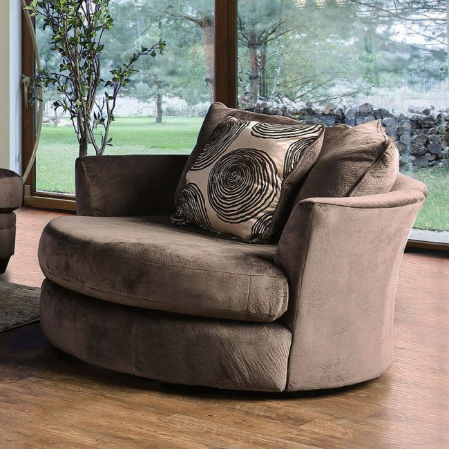 Bonaventura Swivel Chair (Brown)
