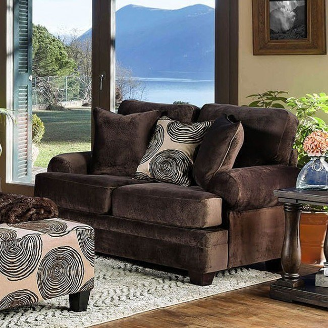 Bonaventura Loveseat (Brown)