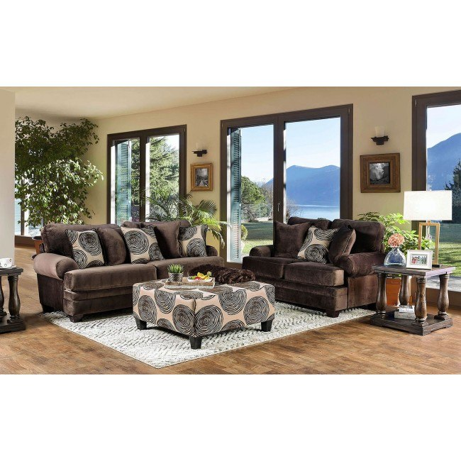 Bonaventura Living Room Set (Brown)