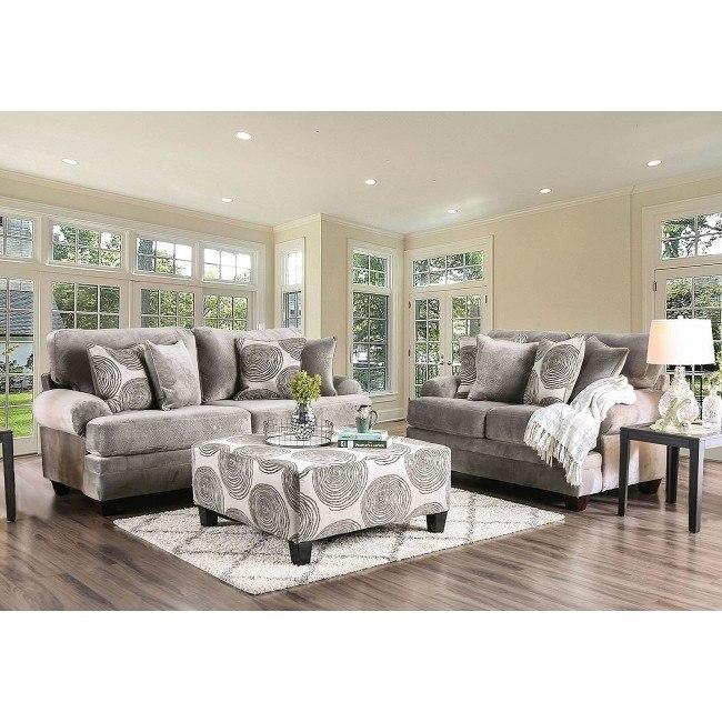 Bonaventura Living Room Set (Gray)