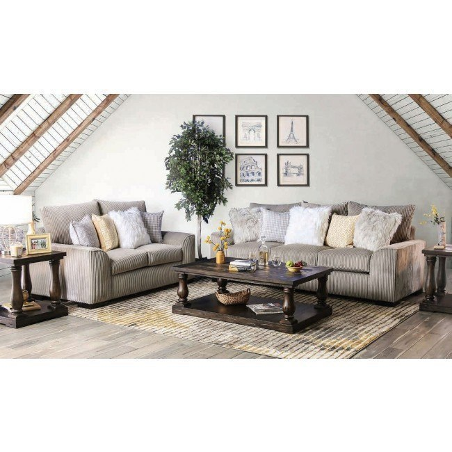 Marjorie Living Room Set (Gray)